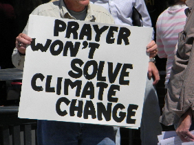 prayer won't solve climate change