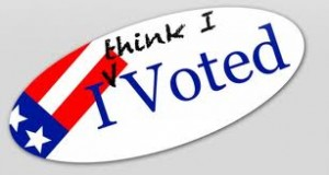 I think I voted
