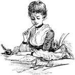 Woman Writing Letter