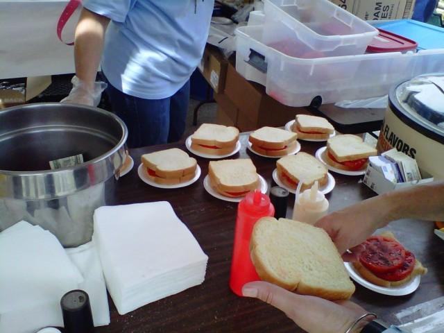 Making Tomato Sandwiches