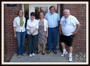 L to R: Trish Nelson, Caroline Vernon, Dr. Alta Price, Paul Deaton, Dave Bradley. Photo by Dan DeShane