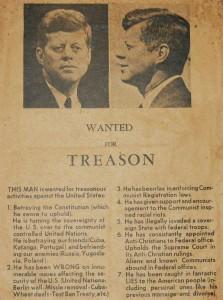 posted in Dallas - Nov. 22,1963