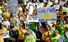 walmart protest for wages