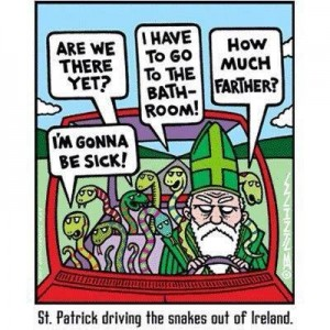 st. patrick drives the snakes