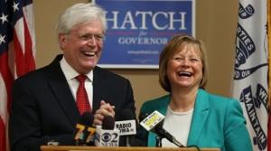 Jack Hatch and Monica Vernon
