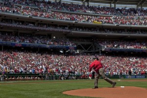 Obama Throwing First Pitch - Photo Credit whitehouse.gov