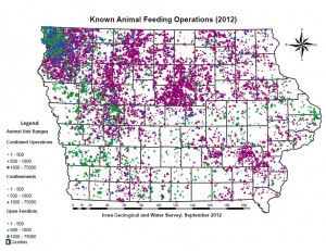 Known Iowa CAFOs 2012