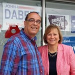 House district 91 candidate John Dabeet poses with Lt. Governor candidate Monica Vernon in Muscatine