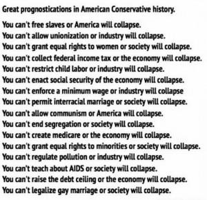 conservative prognostications