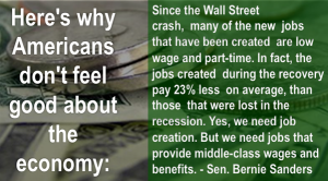 Bernie on the economy