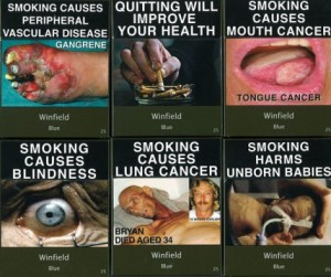 some of the new Australian cigarette package images