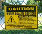 Bacteria Notice at Lake Macbride July 14