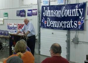 Bernie Sanders at the 2014 Johnson County Democrats BBQ