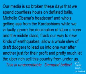 broken media