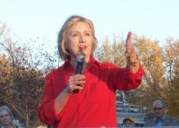 Hillary Clinton inn Coralville, Iowa, Nov. 3, 2015