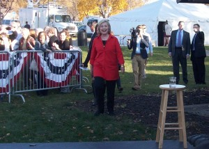 Hillary Clinton Walking to the Stage at S.T. Morrison Park, Coralville, Iowa, Nov. 3, 2015