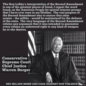 warren burger on guns