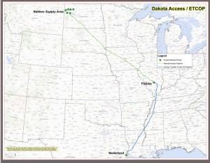 Dakota access proposed route
