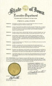 proclamation for weekend of prayer