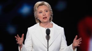 Hillary Clinton accepts Democratic nomination for president, becoming the first female nominee of a major party.