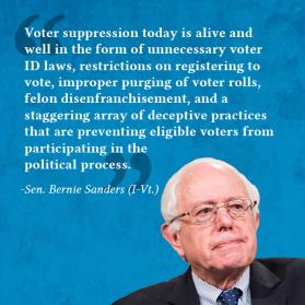 Bernie on Voter ID