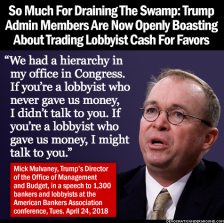 mick mulvaney asks for bribes