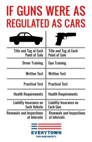 licensing guns like cars