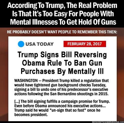trump signs bill reversing gun ban to mentally ill