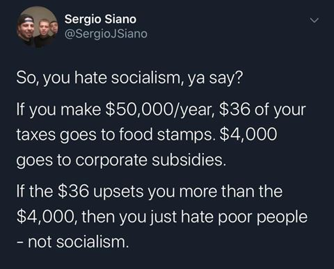 Socialism you hate?