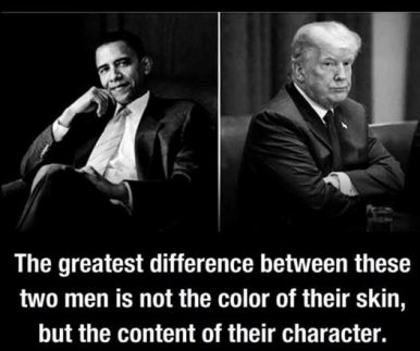 Obama trump real difference