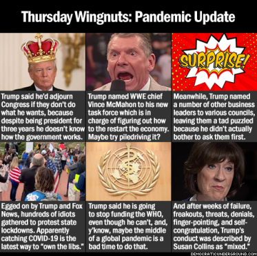 King Trump pandemic report