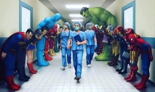 superheroes know who the real heroes are