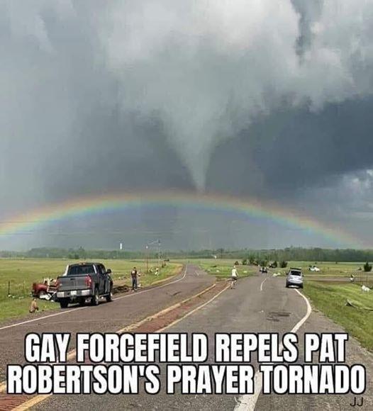 gay rainbow repels tornado AHNC