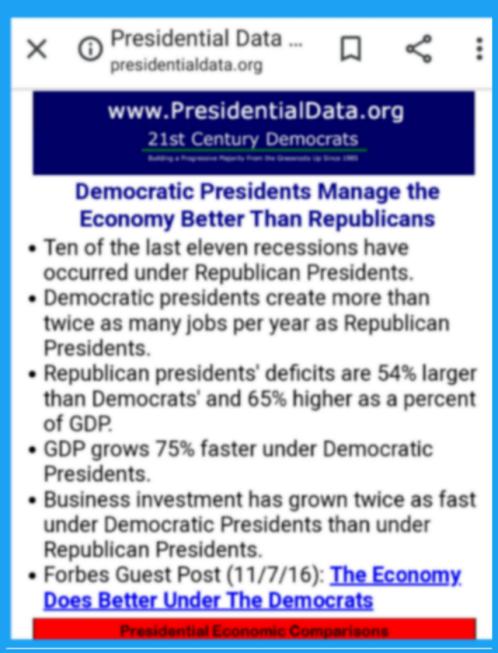 Dems create best economies DU
